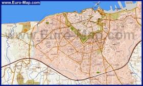 Подробная карта Ираклиона