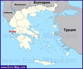 Итака на карте Греции