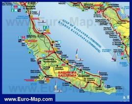 Туристическая карта Кассандры Халкидики