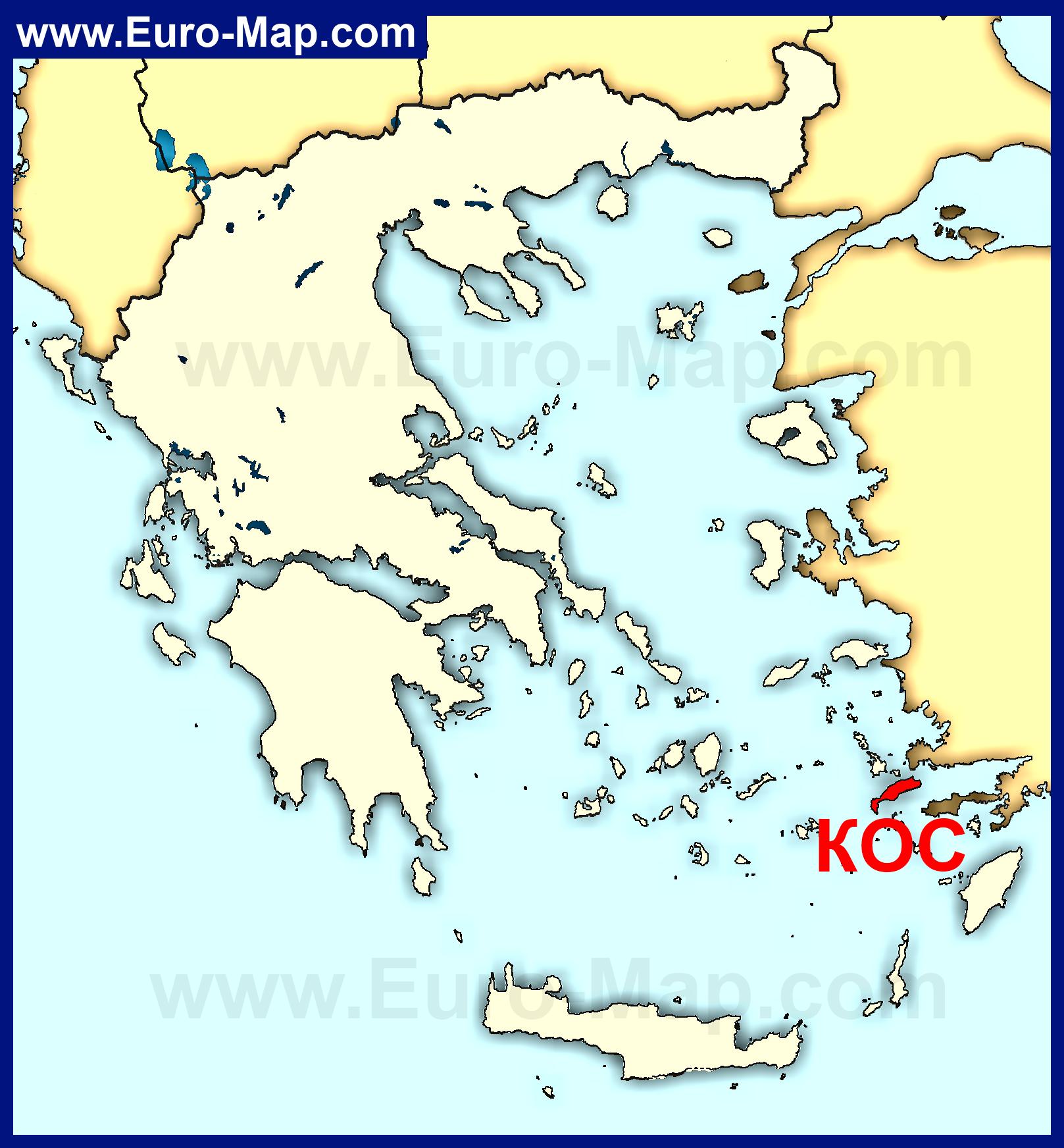 Острова Греции Карта Греции с островами Фото