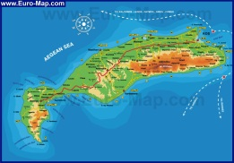 Подробная карта острова Кос