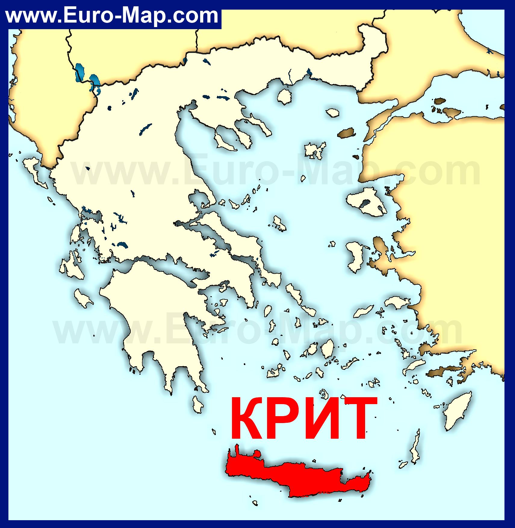 Остров крит на карте греции