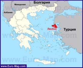 Лесбос на карте Греции