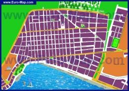 Подробная карта города Лутраки