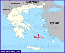 Наксос на карте Греции