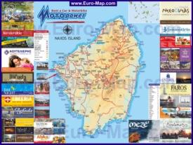 Туристическая карта Наксоса с достопримечательностями