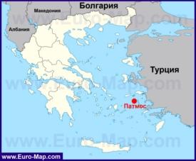 Патмос на карте Греции