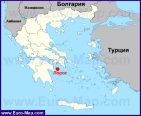 Порос на карте Греции