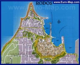 Карта города Родос