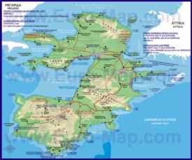 Подробная карта острова Саламин