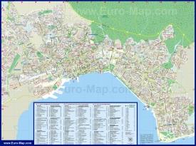 Туристическая карта Салоники