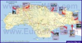 Туристическая карта Самоса