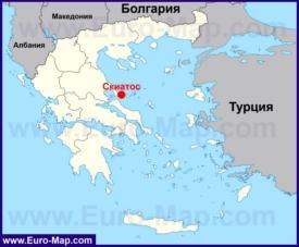 Скиатос на карте Греции