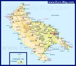 Карта Закинфа (Закинтоса)