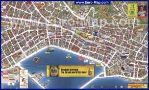 Подробная туристическая карта города Закинтос