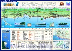 Туристическая карта курорта Брела с отелями
