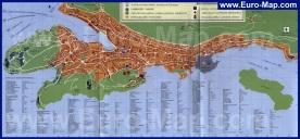 Подробная карта Дубровника (Хорватия)