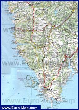 Подробная карта полуострова Истрия
