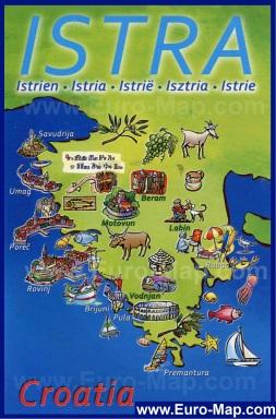 Туристическая карта Истрии