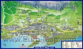 Карта Макарска с окрестностями
