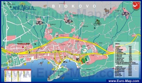 Туристическая карта курорта Макарска