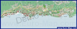 Подробная карта Опатии с отелями