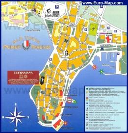 Туристическая карта пореча с отелями и достопримечательностями