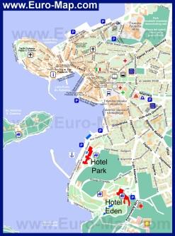 Подробная карта Ровиня
