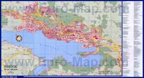 Подробная карта города Шибеник