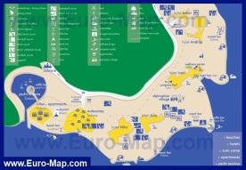 Туристическая карта Шибеника с отелями