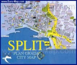 Подробная карта Сплита