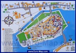 Карта Трогира с достопримечательностями