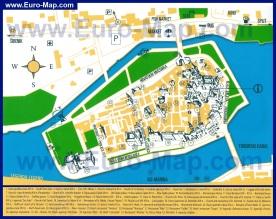 Туристическая карта курорта Трогир