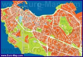 Туристическая карта Рейкьявика с достопримечательностями