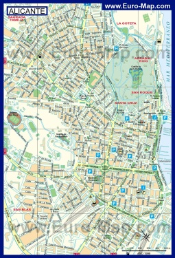 Карта города Аликанте