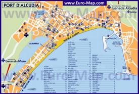 Карта отелей Алькудии