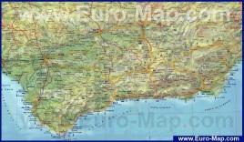 Подробная карта Андалусии