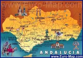 Туристическая карта Андалусии