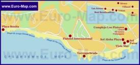 Карта отелей Бенальмадены