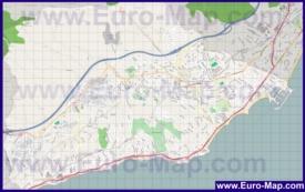 Подробная карта города Бенальмадена