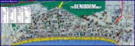 Карта отелей Бенидорма