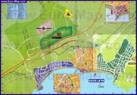 Подробная туристическая карта города Бенидорм