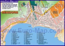 Туристическая карта Бенидорма