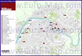 Подробная карта города Бильбао
