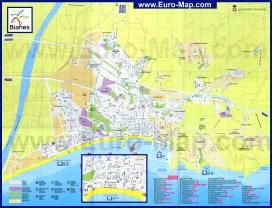 Подробная карта города Бланес