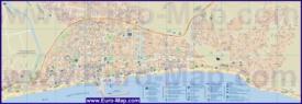 Подробная туристическая карта города Фуэнхирола
