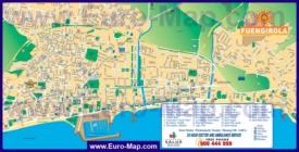 Туристическая карта Фуэнхиролы с отелями и достопримечательностями
