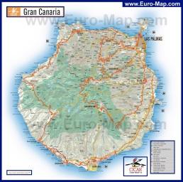 Карта острова Гран-Канария