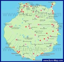 Карта отелей Гран-Канарии