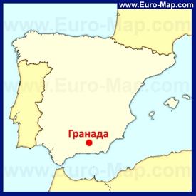 Гранада на карте Испании